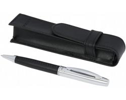 Dárková sada kuličkového pera FIERY s pouzdrem - černá