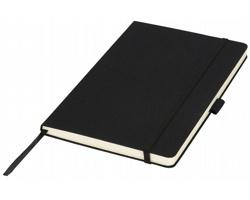 Látkový poznámkový blok Luxe SILKY, formát A5 - černá