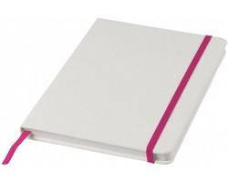 Poznámkový blok v bílých deskách LYSIS, formát A5 - bílá / světle fialová