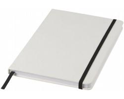 Poznámkový blok v bílých deskách LYSIS, formát A5 - bílá / černá