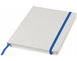 Poznámkový blok v bílých deskách LYSIS, formát A5 - bílá / královská modrá