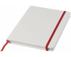 Poznámkový blok v bílých deskách LYSIS, formát A5 - bílá / červená
