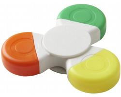 Plastový zvýrazňovač IFFY tvaru spinneru, 3 barvy - bílá