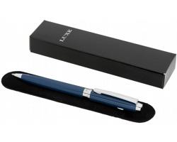 Kovové kuličkové pero Luxe AIMS se sametovým pouzdrem - modrá
