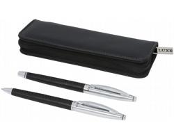 Dárková sada kuličkového pera Luxe OSCODA - černá / stříbrná