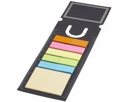 Papírová záložka GEEKS s barevnými lepicími papírky, 90 ks - černá