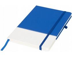 Dvoubarevný zápisník GYRON, formát A5 - modrá