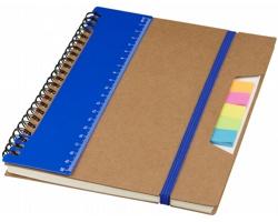 Ekologický zápisník EXEAT s pravítkem a lepicími bločky, formát A5 - modrá