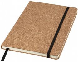 Korkový zápisník GUTTA s elastickou gumičkou, formát A5 - přírodní