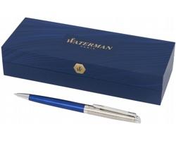 Značkové kovové kuličkové pero Waterman Hémisphere PORTAGE v dárkové krabičce - modrá