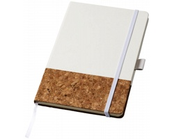 Korkový zápisník DIGGINGS s poutkem na propisku, A5 - bílá