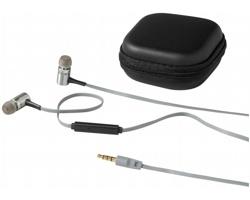 Sluchátka typu pecky Ifidelity JAZZ s ovládáním hudby na kabelu - černá / stříbrná