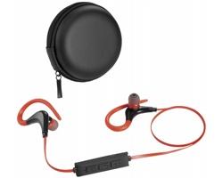Bluetooth sluchátka FLOG s klipy - černá / červená