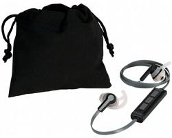 Designová skládací sluchátka DATABASE s bluetooth - černá / šedá