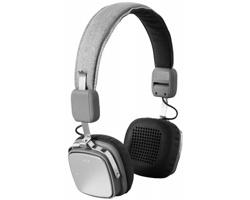 Skládací sluchátka ROCKS s funkcí bluetooth a dosahem 10 m - šedá