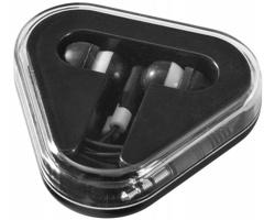 Sluchátka pecky IONS v trojúhelníkovém boxu - černá / bílá