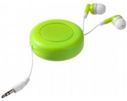 Samonavíjecí sluchátka pecky CASKS - jemně zelená / bílá
