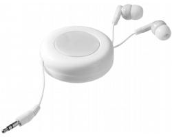 Samonavíjecí sluchátka pecky CASKS - bílá