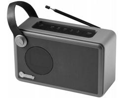 Radiobudík s bluetooth Ifidelity WHIRL - černá / stříbrná