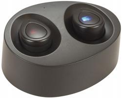 Bezdrátová bluetooth sluchátka HARTS s nabíjecím pouzdrem - černá