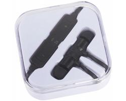 Magnetická bezdrátová sluchátka BOSSY s bluetooth - černá