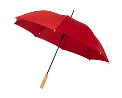 Deštník z recyklovaného PET materiálu NATAL s automatickým otevíráním - červená
