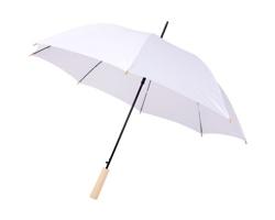 Deštník z recyklovaného PET materiálu NATAL s automatickým otevíráním - bílá
