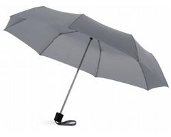 Deštník s kovovou konstrukcí CANNES s pouzdrem - šedá