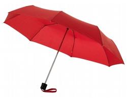 Deštník s kovovou konstrukcí CANNES s pouzdrem - červená