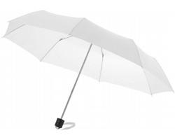 Deštník s kovovou konstrukcí CANNES s pouzdrem - bílá