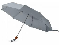 Trojdílný deštník CUSS s pouzdrem - šedá