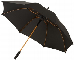Automatický deštník GUSTS s kopím v zářivých barvách - černá / oranžová