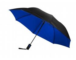 Automatický deštník NEPER s kontrastní barvou na vnitřní straně - černá / modrá