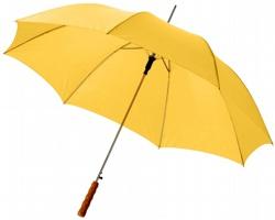 Automatický deštník SLIM s dřevěnou rukojetí - žlutá
