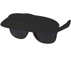 Plastové sluneční brýle GANGSTA s nastavitelným kšiltem - černá