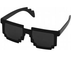 Plastové designové sluneční brýle PIXELY - leskle černá / černá