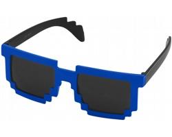 Plastové designové sluneční brýle PIXELY - černá / královská modrá