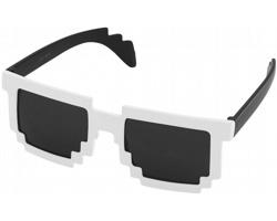 Plastové designové sluneční brýle PIXELY - černá / bílá