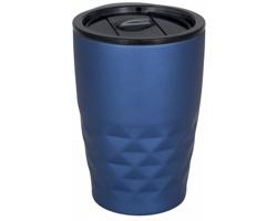 Nerezový termohrnek SMOGGIER s geometrickým vzorem, 350 ml - modrá