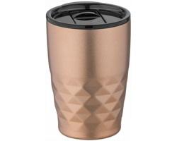 Nerezový termohrnek SMOGGIER s geometrickým vzorem, 350 ml - měděná