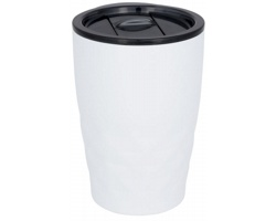Nerezový termohrnek SMOGGIER s geometrickým vzorem, 350 ml - bílá
