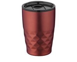 Nerezový termohrnek SMOGGIER s geometrickým vzorem, 350 ml - červená