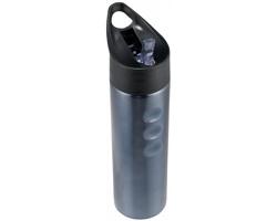 Nerezová sportovní láhev na pití MOPEDER, 750 ml - titanová