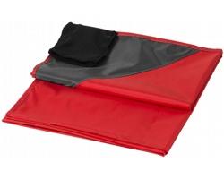 Venkovní pikniková deka FOODY s voděodolnou úpravou a pouzdrem - červená