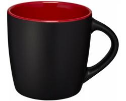 Keramický hrnek DOGGO s barevným kontrastem, 350 ml - černá / červená