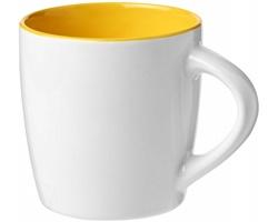 Keramický hrnek DANES, 350 ml - bílá/žlutá