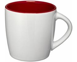 Keramický hrnek DANES, 350 ml - bílá/červená