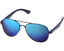 Zrcadlové sluneční brýle AVIATOR v pouzdře - modrá