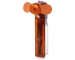 Plastový kapesní mini ventilátor MILIARY s nádobou na vodu - oranžová