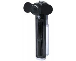 Plastový kapesní mini ventilátor MILIARY s nádobou na vodu - černá
